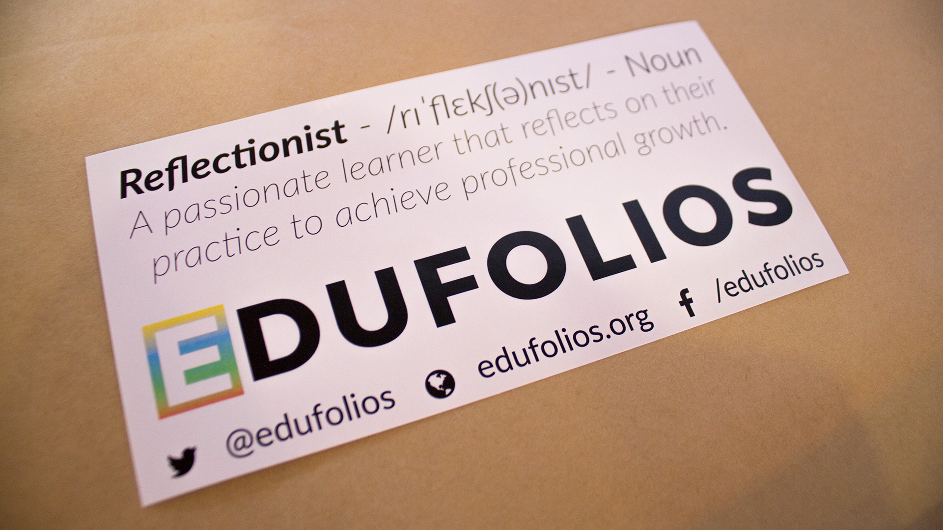 Reflction is way better than perfection - edufolios