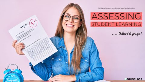 Woman holding exam paper. Where did Assessment go in your portfolio